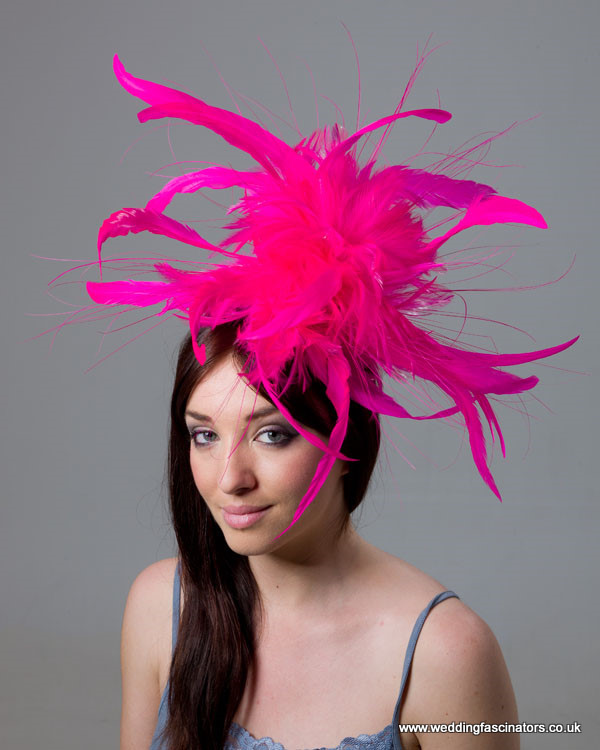 Cerise Pink Mayfair fascinator