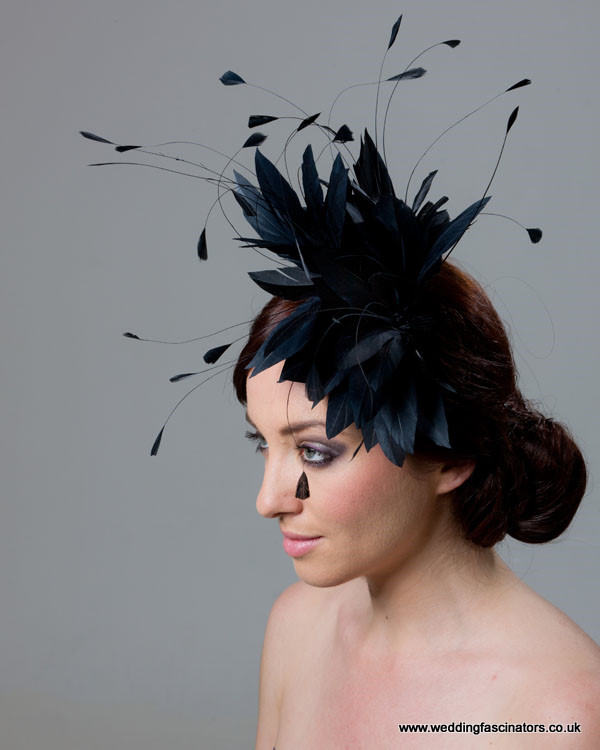 Dark Navy Belgravia fascinator