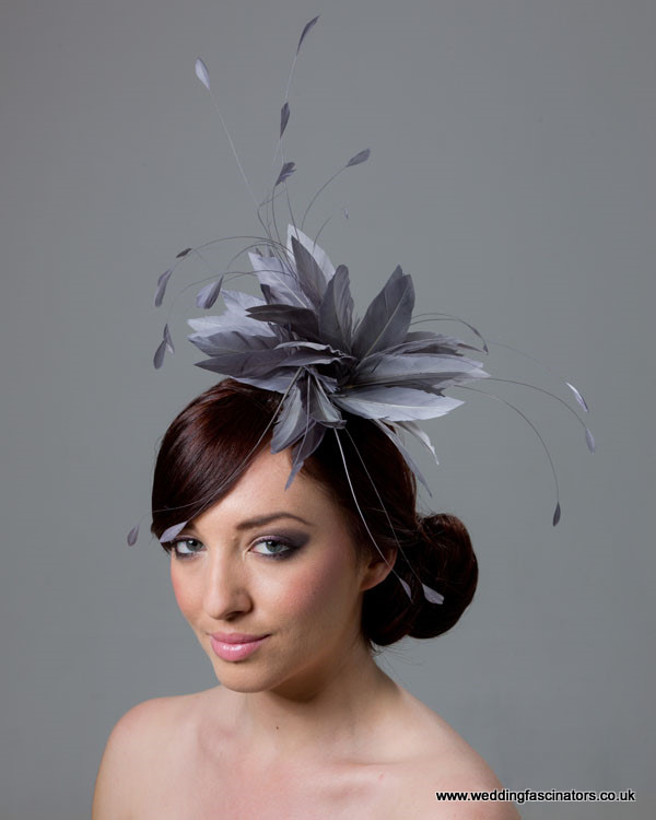 Steel Grey Belgravia Fascinator