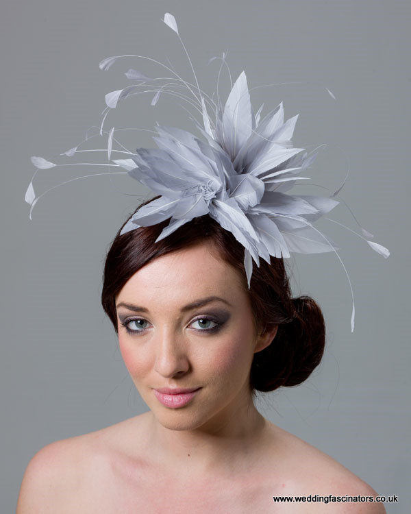 Silver Fascinator  Belgravia - Fascinators by Jemma Loveridge 1810a94f701