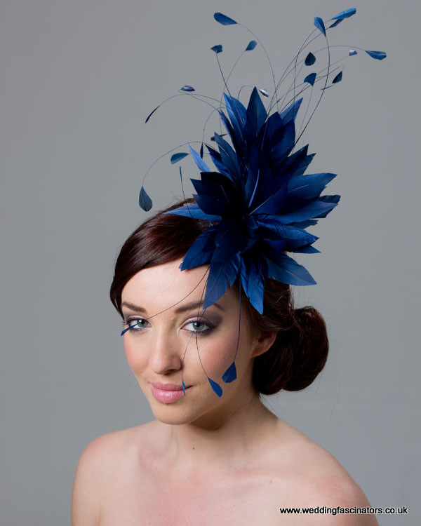 Light navy blue Belgravia fascinator