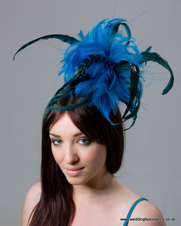 Blue and Black Mayfair fascinator