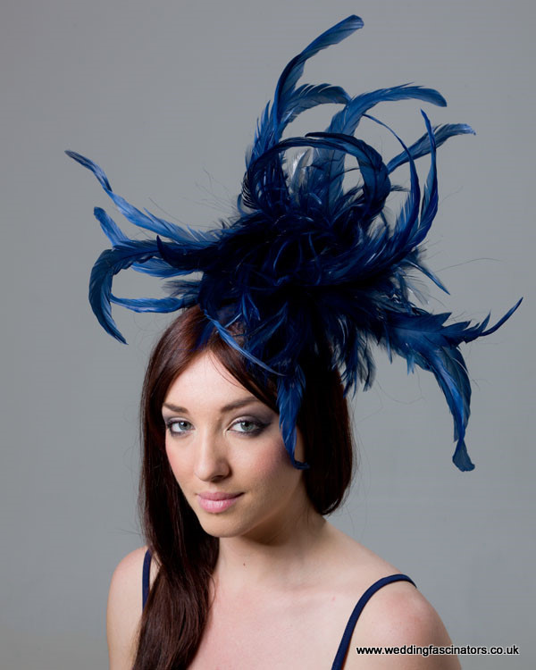 Light Navy Mayfair fascinator