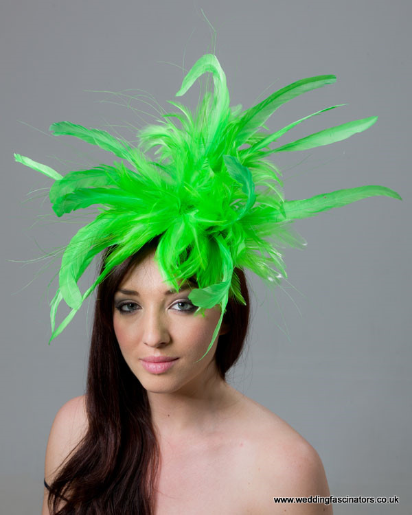 Lime Green Mayfair fascinator