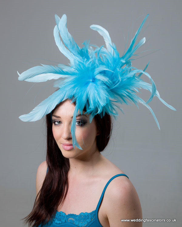 Turquoise Blue Mayfair fascinator