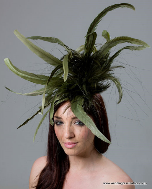 Olive Green Mayfair fascinator