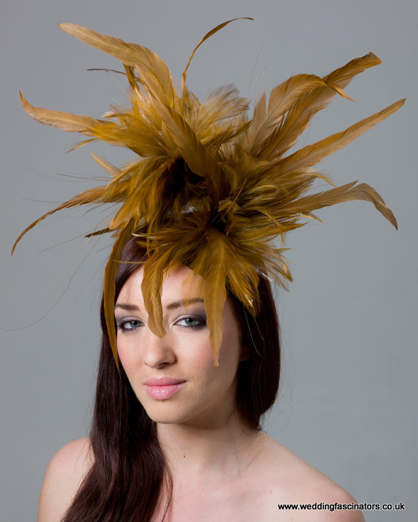 Gold Mayfair fascinator
