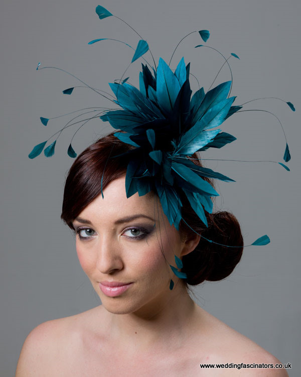 Teal Green Belgravia fascinator