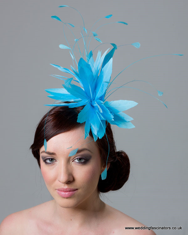 Turquoise Blue Belgravia fascinator