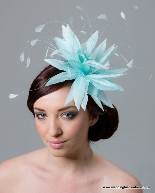Mint Blue Fascinator  Belgravia - Fascinators by Jemma Loveridge a9b07069a08