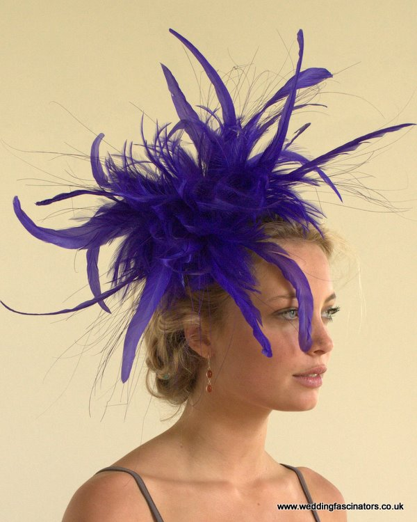 Purple Mayfair fascinator