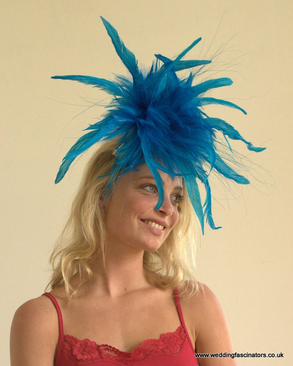 Peacock Blue Mayfair Fascinator