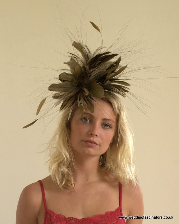 Brown and Natural Chelsea fascinator
