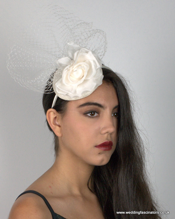 White Kensington fascinator