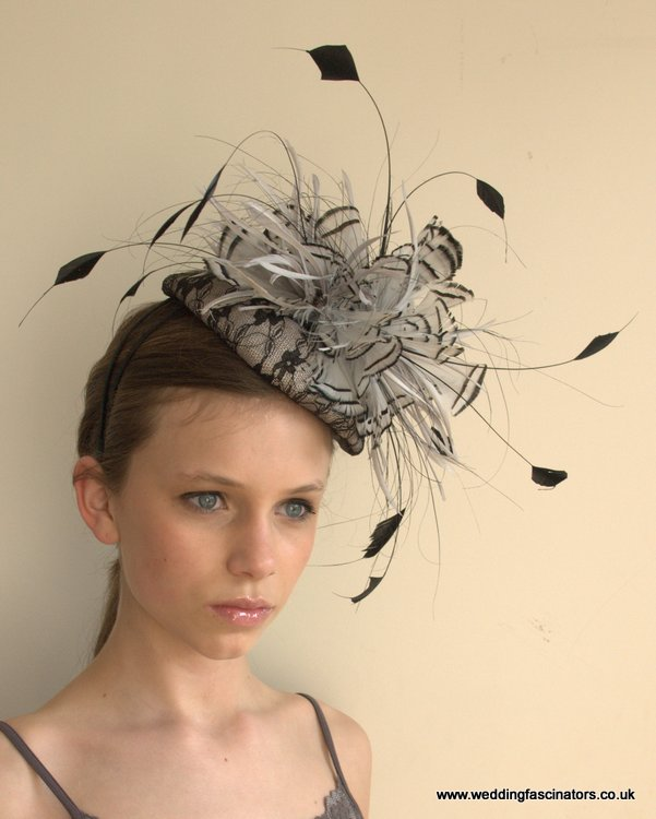 Silver and black headpiece