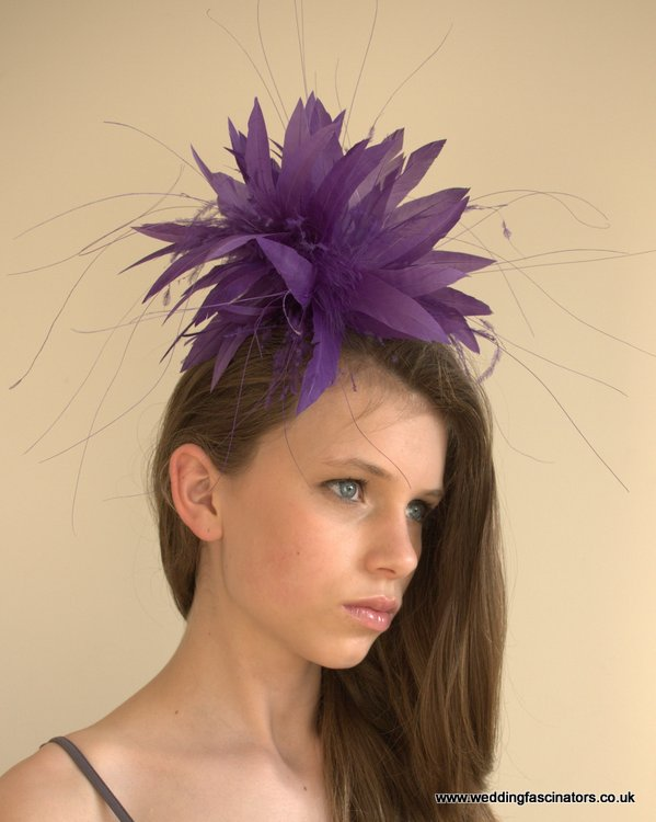 Purple Knightsbridge fascinator