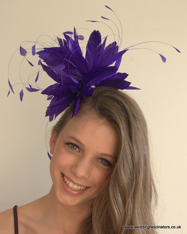Purple Belgravia Fascinator