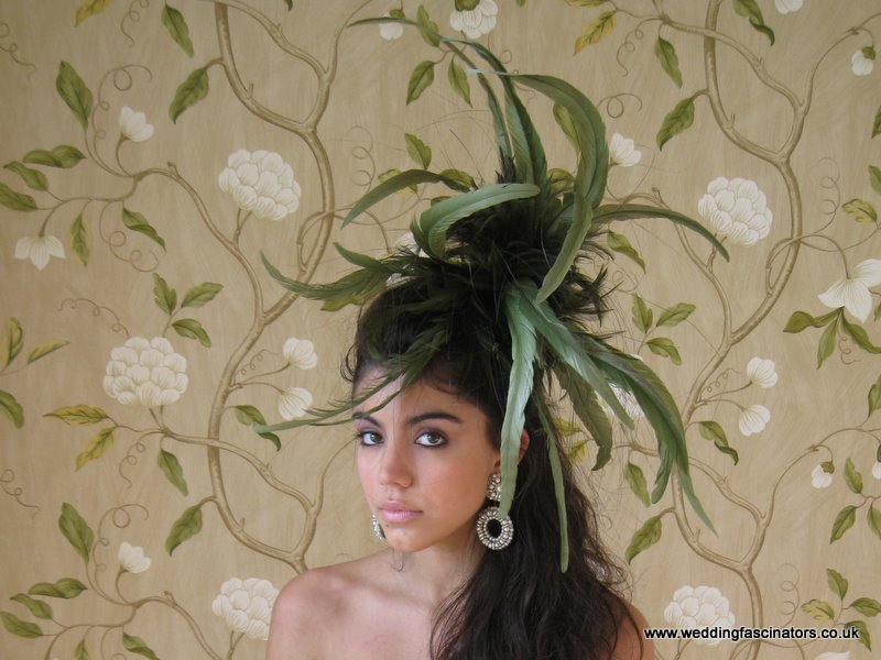 Moss Green Wedding Fascinator