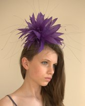Knightsbridge Fascinators in Purple